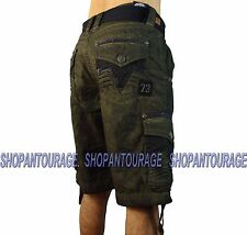 AFFLICTION Rusted Tamplate 110WS110  Men`s New Military Green Cargo Shorts
