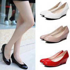 Ladies Womens Low Mid High Heels Platforms Wedges Pumps Work Court Shoes TP