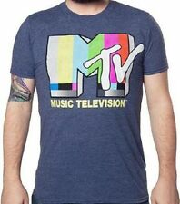 MTV Music Television Retro Logo Navy T Shirt_ New with tags_ Officially Licensed