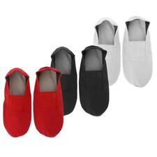 Girl's Ballet Dance Shoes Gymnastics Canvas Slippers Full Sole Shoes