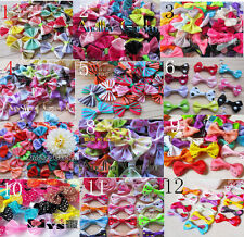Pet dog hair bows clips/rubber bands pet grooming hair bows accessorie wholesal