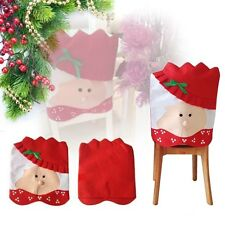 Christmas Chair Cover with Mrs Santa Claus for Dinner Decor ICA