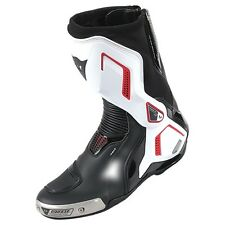 NEW MODEL GENUINE DAINESE TORQUE OUT D1  WHITE RED RACING MOTORCYCLE BOOTS