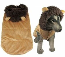 New Brown Lion Costume Fleece Coat Jacket Hoodie Small Medium Large Dog Clothes