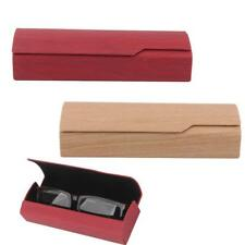 Portable Wood Grain Sunglasses Eye Glasses Hard Case Protector Box Pouch Bag