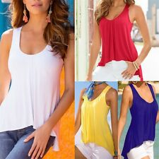 Sexy Fashion Women Casual Vest Top Sleeveless Blouse Loose Tank Tops T-Shirt TP