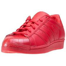 adidas Superstar Glossy Toe Womens Trainers Red New Shoes