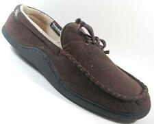 NEW Mens ISOTONER BROWN  Slip On House Comfort Slippers Shoes