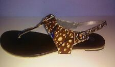 African Print  Brown Sandals Size - EUR 41