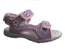 GIRLS TEDDY SHOES VELCRO SANDALS LILAC SIZE 8-13 NEW