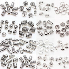 100Pcs Tibet Silver Loose Spacer Beads Charms Jewelry Findings DIY U Pick
