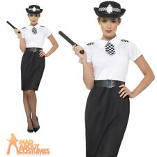 Adult British Police Lady Costume Womens Cop Fancy Dress Outfit New