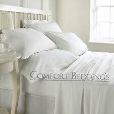 COMFY Quality 1500 TC Hotel White Duvet Fitted &`Sheet Set 100% Egyptian Cotton