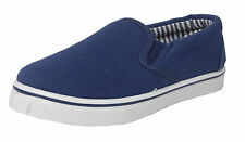 Boys Girls Childs Kids Canvas Boat Yachting Deck Shoes Slip On Pumps Blue Sz 8-2