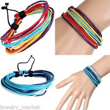 1PC JM Multicolor Wax Strings Hand-woven Rope Hand Rope Women Bracelet Bangle