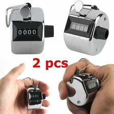 2PCS Sale High Quality Hand held Tally Counter 4 Digit Number Clicker Golf FJ