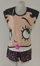 BETTY BOOP LADIES GIRLS PJ SHORTS AND TOP SET SLEEPWEAR COTTON SIZE S M L XL