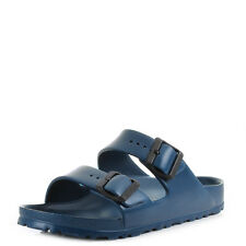 Womens Birkenstock Arizona Eva Narrow Navy Blue Twin Strap Sandals Shu Size