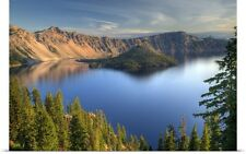 Poster Print Wall Art entitled Crater Lake and Wizard Island