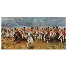 Poster Print Wall Art entitled Scotland Forever. The Royal Scots Greys Charge At