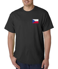 Embroidered Czech Republic Country Pride Prague Europe T-Shirt S-5XL