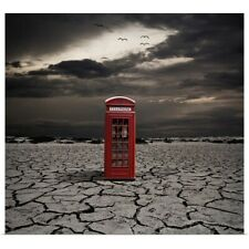 Poster Print Wall Art entitled Red telephone booth