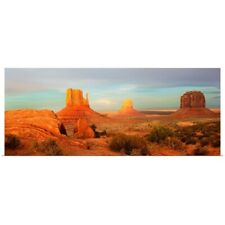 Poster Print Wall Art entitled Buttes rock formations at Monument Valley,