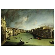 Poster Print Wall Art entitled The Grand Canal, View of the Palazzo Balbi