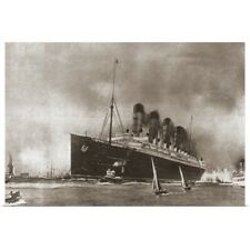 Poster Print Wall Art entitled RMS Lusitania Cunard Line Ocean Liner
