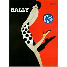 Poster Print Wall Art entitled 1980's France Bally Poster