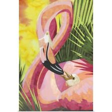 Poster Print Wall Art entitled Flamingo Mom
