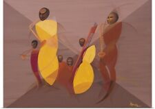Poster Print Wall Art entitled Mango Jazz, 2006 (oil and acrylic on canvas)