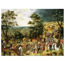 Poster Print Wall Art entitled Christ on the Road to Calvary, 1607 (panel)