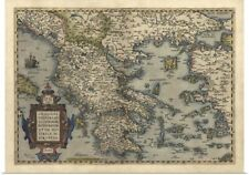 Poster Print Wall Art entitled Antique Map of Greece, 1570