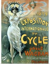 Poster Print Wall Art entitled Exposition du Cycle, c. 1899,Vintage Poster, Jean