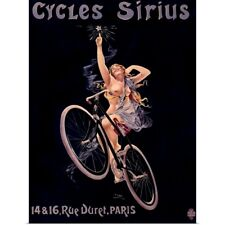 Poster Print Wall Art entitled Cycles Sirius, Vintage Poster, by Henri Gray