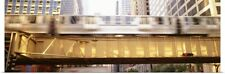 Poster Print Wall Art entitled The EL Elevated Train Chicago IL