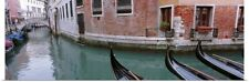 Poster Print Wall Art entitled Gondolas in a canal, Grand Canal, Venice, Italy