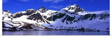 Poster Print Wall Art entitled Whaling station at the waters edge Grytviken