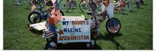 Poster Print Wall Art entitled Americana bike in the 4th of July Parade,