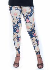 Floral Print Leggings - Blossom Flowers. 2 Colours - Yellow Or Pink