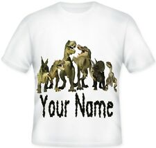 Kids/Child's Personalised Dinosaur  T Shirt Great Gift Idea For Any Fan