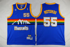 NEW Denver Nuggets #55 Dikembe Mutombo Retro Swingman Basketball Jersey