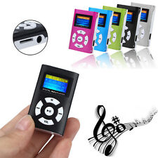 USB Mini LCD Screen MP3 Music Clip Player Support 32GB Micro TF SD Card Recharge