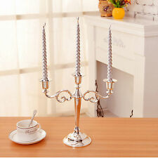 Iron 3 Scroll Arm Candelabra 3 trays metal Candle Stick Holder Stand Home Table