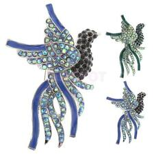 New Fashion Colorful Crystal Peacock Bird Brooch Pins Jewelry Gifts