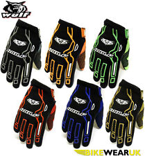 WULFSPORT FORCE 10 ADULT MOTOCROSS ENDURO OFF ROAD MOTORCYCLE QUAD BIKE GLOVES