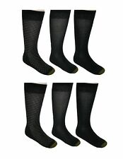 New Gold Toe Mens Big and Tall Cotton Mid Calf Dress Socks (Pack of 6)