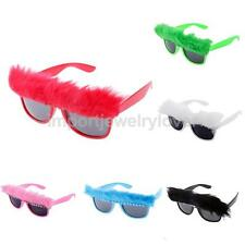 Vintage Feather Glasses Fancy Dress Costume Party Sunglasses Eyewear Women Girls