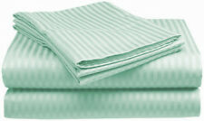 1000TC Egyptian Cotton SHEET SET Sateen Stripe Mint Green